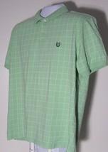 Men's Short Sleeve Casual Polo Shirt Ralph Lauren CHAPS Size XL Green Tw... - $7.99