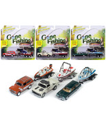 Gone Fishing 2017 Release 4B Set of 3 1/64 Diecast Model Cars by Johnny ... - $74.67