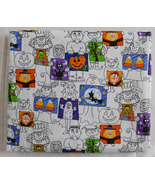 Fabric Timeless Treasures 2002, Halloween Holiday Pattern Monsters 44 W ... - $14.99