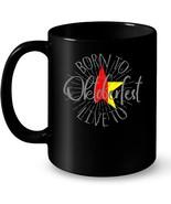 Funny Oktoberfest Ceramic Mug   Born To Oktoberfest - $13.99+