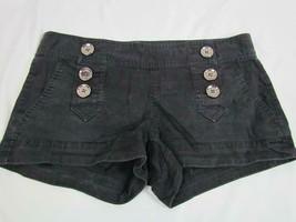 EXPRESS Black Cotton Spandex Blend Shorts size 2 Sailor Button Front - $23.74