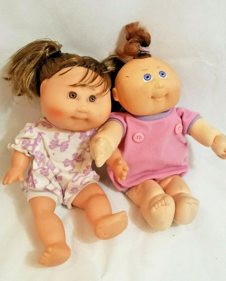 Vintage 1980s CPK Cabbage Patch Doll Vinyl Kids Toy Hasbro Signed brown blue eye