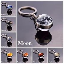 Solar System Planet Keyring Galaxy Nebula Space Keychain Moon Earth Sun - $12.99