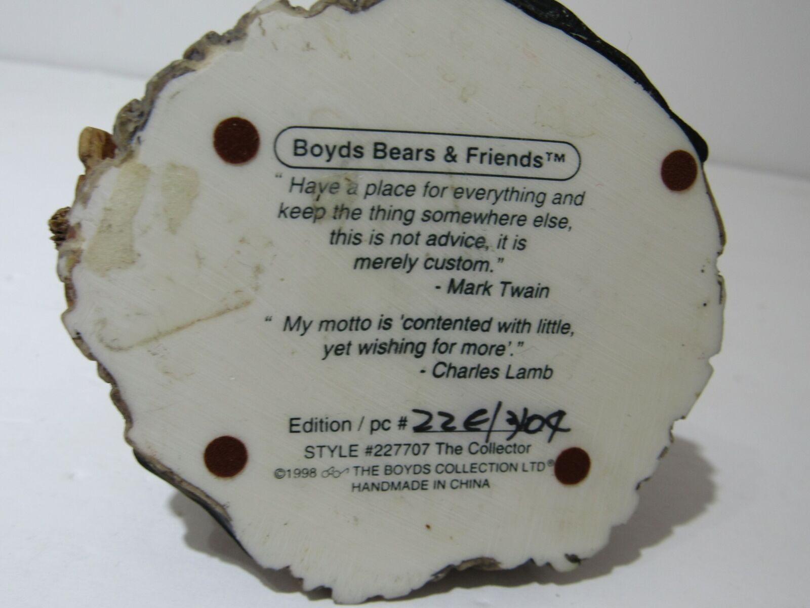 Boyds Bears & Friends The Collector #227707 image 4