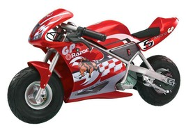 NEW! Boys Electric Racing Motorcycle Single Speed 24 Volt Red - $356.37