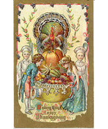 Wishing You A Happy Thanksgiving Vintage 1911 Post Card - $6.00