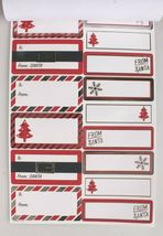 4 packs (240) Xmas Christmas Gift Tags Presents Wrapping Peel and Stick To From image 4