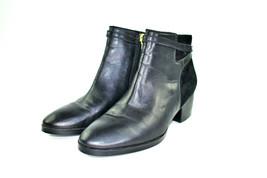 Lauren Ralph Lauren Damara Black Leather Women's Ankle Boots Size 6.5 B - $25.69