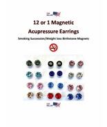 1 Pr Crystal Magnetic Acupressure STOP SMOKING/WEIGHT LOSS Earrings  US ... - $4.25+