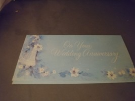 On Your Wedding Anniversary American Greetings Vintage Greeting..Card  - $5.00