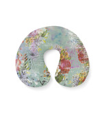 Grunged Florals on Green Travel Neck Pillow - $28.99 CAD+