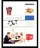 Coke Time Soda Ad Serving Coca-Cola Ice Cold Drink Coca-Cola Dispenser 1... - $12.99