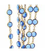 Vintage Swarovski Necklace  Sapphire Blue Crystals  36 Inch  Designer  S... - $79.00