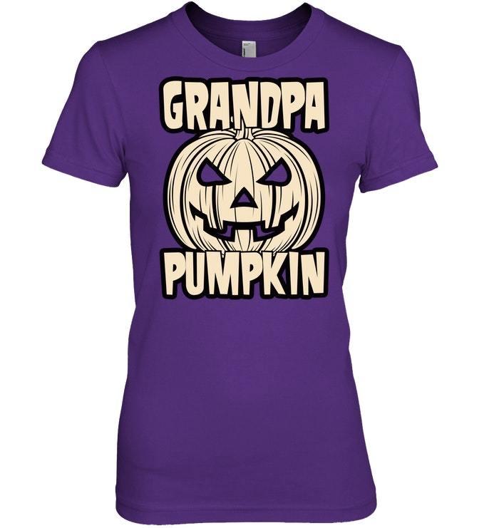 Funny Halloween Tshirt Grandpa Pumpkin Jack O Latern