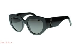 Yves Saint Laurent Lunettes de Soleil Sl M26 Corde 002 Noir/Gris Lentille - $240.02