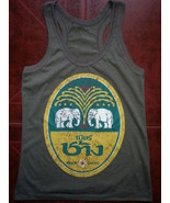 Women Lady Top Shirt chang beer Thailand elephant CASUAL SOFT COTTON tha... - $12.86