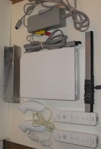 NINTENDO Wii BUNDLE CONSOLE SET RVL-001 Gamecube Port Controller Nunchuk... - $51.09