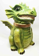 FIERCE PET DRAGON CERAMIC COOKIE JAR WORLD CUTEST KITCHEN ACCESSORY TOP LID - $29.69