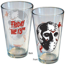 Friday the 13th Movie Jason Hockey Mask Two Sided Pint Glass NEW UNUSED - $7.84