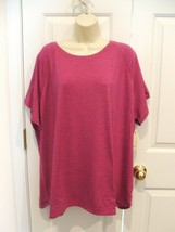 NWT $30 ST. JOHN'S BAY ULTRA PINK Tee  Shirt Top Womens Plus Size  3X - $24.74