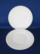 Westmoreland Beaded Edge Luncheon Plates, Milk Glass, Line 22, c. 1940's-50's - $18.00