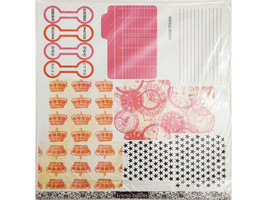 """Teresa Collins Freestyle Tags, Set of 5 12x12"""" Sheets"""