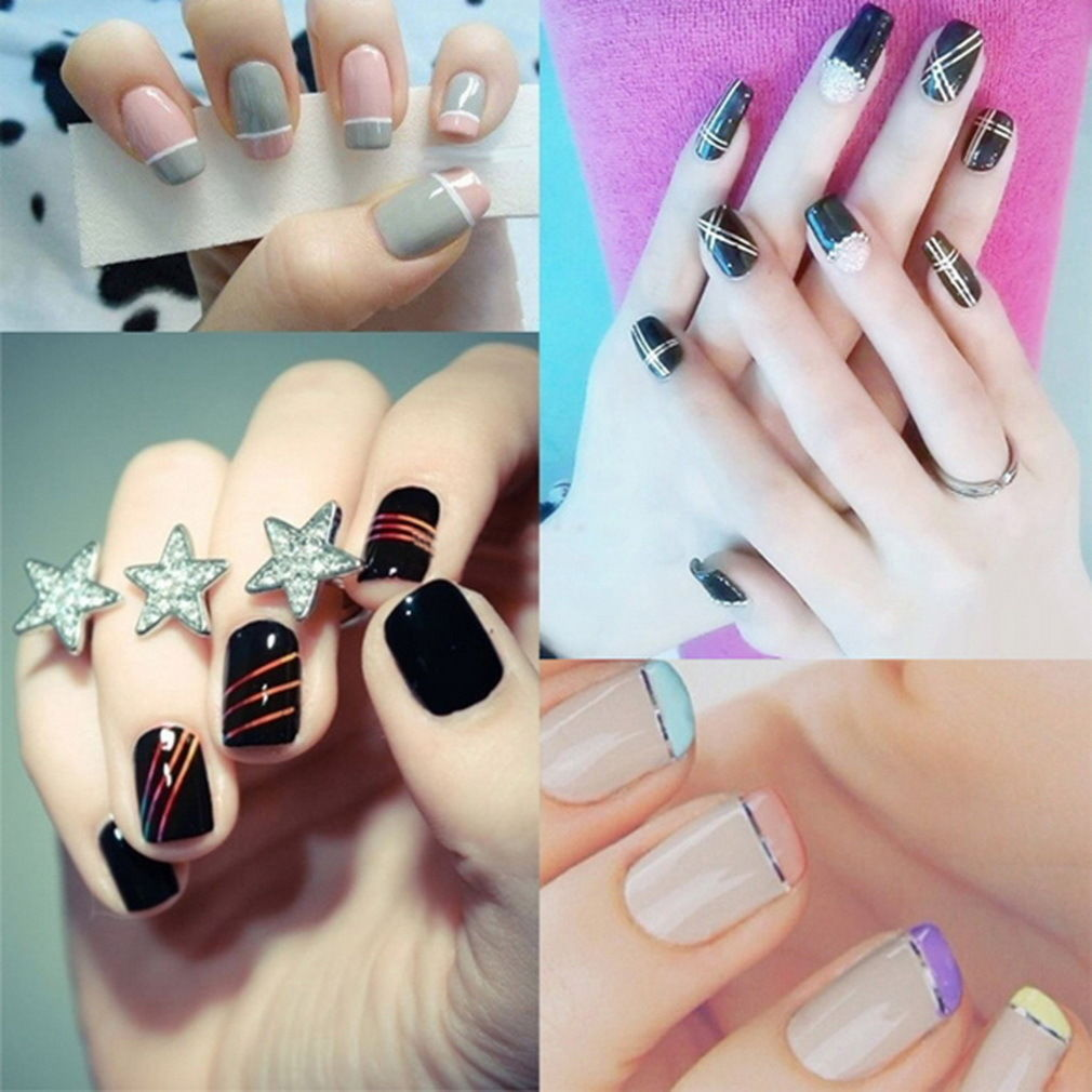 AA3: 2PCS BLACK Rolls Striping Tape Line Nail Tips Sticker DIY w/Free Gift image 4