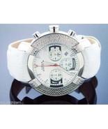 Aqua Master Large Round 20 Diamonds Watch White Face - $148.49