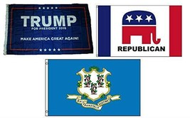 ALBATROS 3 ft x 5 ft Trump #1 with Republican with State of Connecticut ... - $56.55