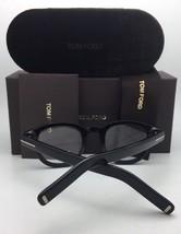 New TOM FORD Eyeglasses TF 5496 001 47-23 145 Polished Black & Gold Frames