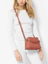NWT MK MICHAEL KORS PORTIA SMALL SAFFIANO PVC LEATHER SHOULDER BAG - $159.99