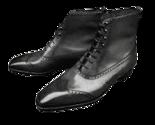 Handmade Men's Leather Black colour colour Lace-Up Dress Shoes - £86.17 GBP