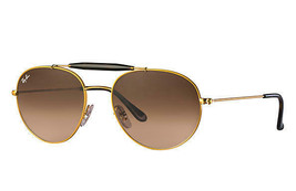 7f23ac577a RAY-BAN RB3540 9001A5 Gold Metal Frame Brown Sunglasses 56mm - $130.95