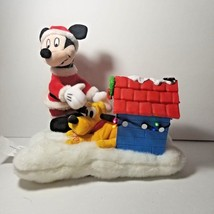 Animated Disney Mickey Mouse and Pluto Christmas Musical Plush Lights wi... - $14.50