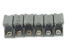LOT OF 6 ALLEN BRADLEY HEATER ELEMENTS N17, N26, N33, N22, N34