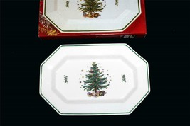 "Nikko Christmastime Holiday LARGE 16"" Octagon Rectangle Christmas Platte... - $39.99"