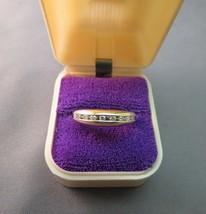 18K Yellow Gold Diamond Band Ring  3.63 Grams Size 7.25 Crown 5mm Channe... - $277.19