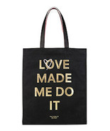 "Victoria's Secret Tote Double Bag ""Love Made Me Do It"" Logo NWT - $27.76"