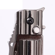 Folding Knife Windproof Refillable Butane Gas Trip Jet Flame Cigarette Lighter - image 7