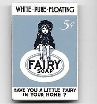 Adorable LITTLE FAIRY BAR SOAP METAL TOOLBOX or FRIDGE MAGNET - $7.99