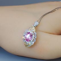 Pink Topaz Necklace Life Spiral 1.5 CT Pink Gemstone Pendant  Spiritual ... - $136.00