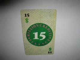 1986 Power Barons Board Game Piece: $15 Million Credits Finance card  - $1.00