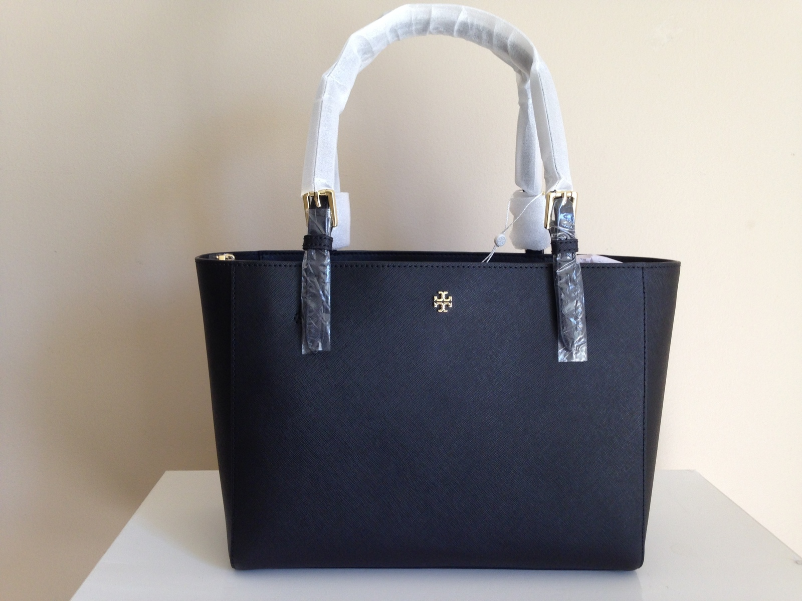 Tory Burch  Emerson Small Buckle black Leather Tote bag