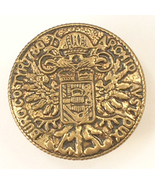 Gold Colored Button Replica of the Maria Theresa Thaler Coin from Vienna... - $12.00