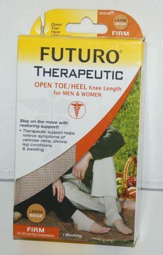 Futuro 005105 Therapeutic Firm Compression Stocking Color Beige Size Large