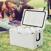 Durable 80 Quart White Patio Deck Backyard Travel Portable Cooler Chest - $281.19