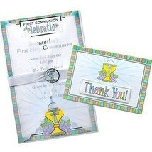 First Communion Party Deluxe Imprintable Invitation Kit - New / Sealed - $26.98