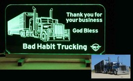Personalized Truck Sign - Cattle Truck, Semi, Man Cave Sign - LED - $96.03+