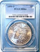 1898-O PCGS Morgan Silver Dollar. MS64. MG11. - $78.00