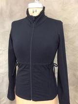 Women's PRANA YOGA Black Running JACKET Waist Side Tie Athletic S Small ... - $38.55